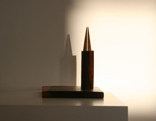 """interstice"" (2012) wood object 14 x 12 x 11 cm"