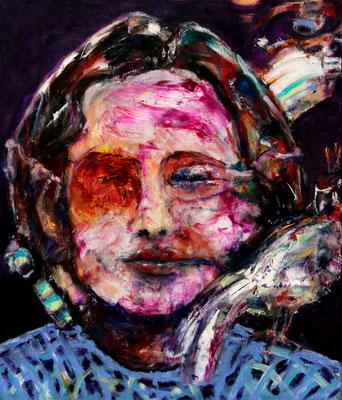 Lisa Birds (2020) oil on canvas 80 x 68 cm