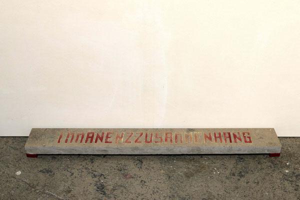 Immanenzzusammenhang (2016) acrylic spray on stone 13 x 110 x 4 cm
