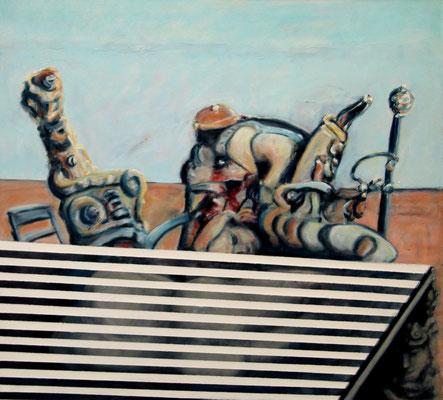 Tribunal of Utility (2014) oil on canvas 100 x 110 cm