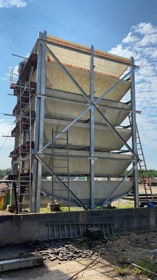 Torre de enfriamiento POME - Aceite de palma africana - Aqualimpia / Alemania - Producción de biogás