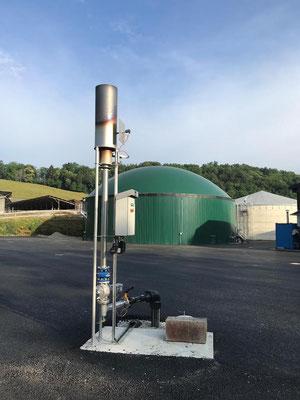 Antorcha para biogás - quemador para biogas - flare biogas
