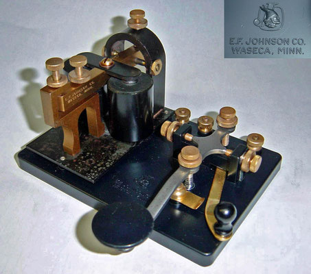 KOB Key on Board. Telegraph key and sounder set. Made by E.F.Johnson Co.