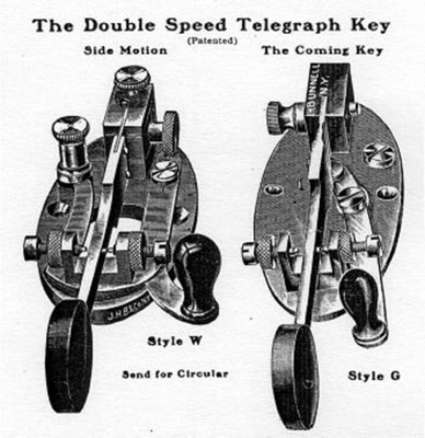 The double speed telegraph key style W