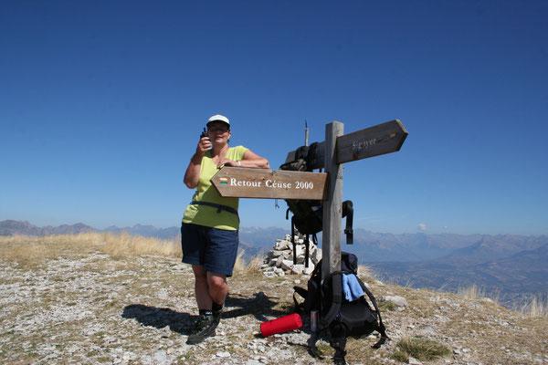 Een mooie klim naar de top van de berg Ceuse 2016 M. La Montagne Manteyer Frankrijk.