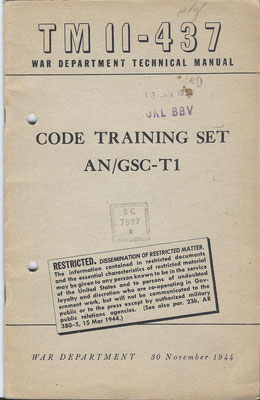 Code training set AN/SC-T1.