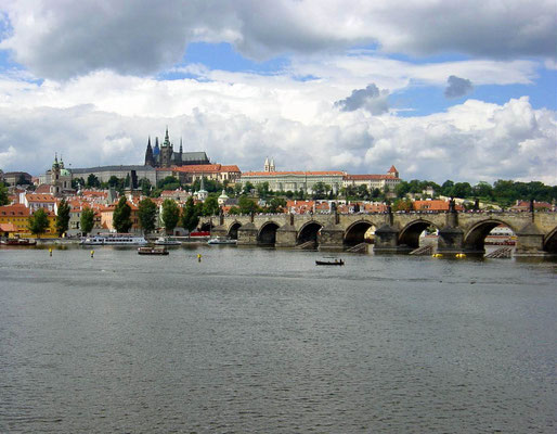 Tsjechie Karelsbrug Praag.