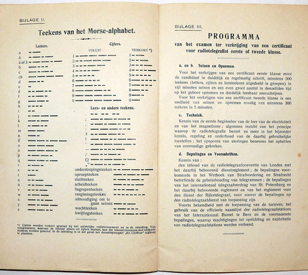 Instruction manual. Handleiding voor de uitoefening van den radiotelegraafdienst. 1920