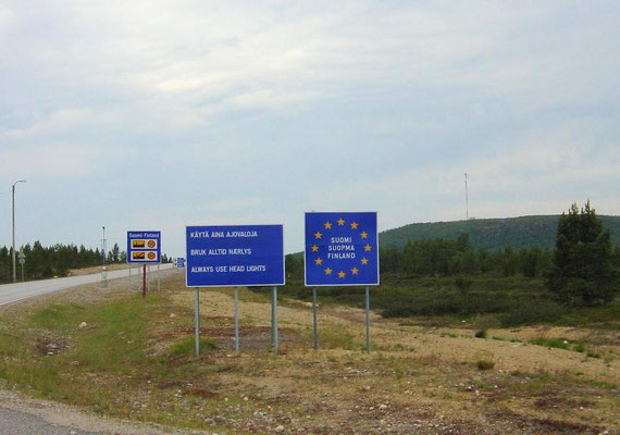 The border from Norway to Finland.