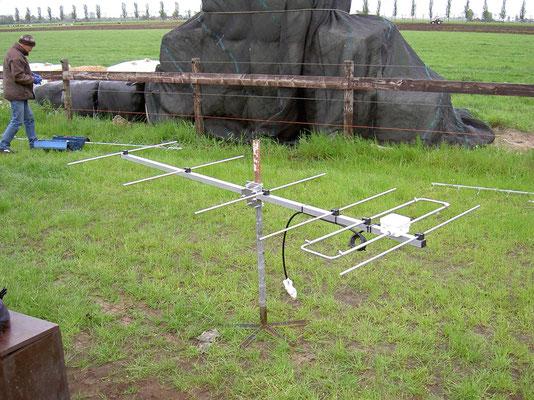 6 elements 2 meter LFA antenna. 9.8 dbd gain. Antenna measurement veron Meppel.