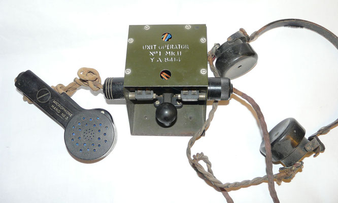 "UNIT OPERATOR NO.1, MKII, YA 8414. This unit is not a Key and Plug Assembly. It is part of ""Training Set Universal, Wireless No 1""  for voice and operator training.(Bron Louis Meulstee Wireless for the Warrior Compendium 1)"