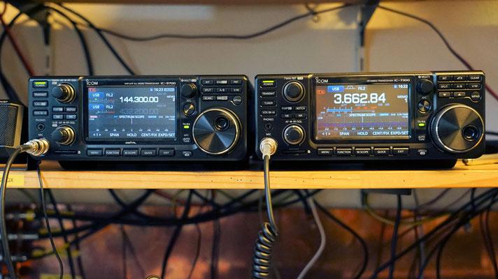 My toys. Icom IC-9700 / Icom IC-7300.