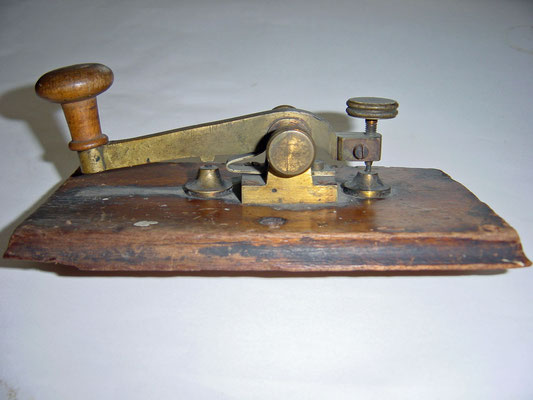 Austria - Before restoration.Camelback telegraph key circa 1875.