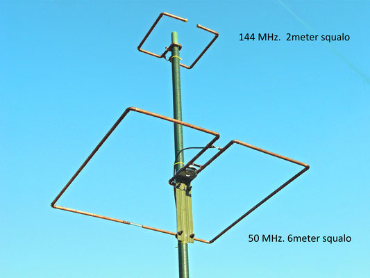 Squalo 2 en 6 Meter antenne. Made with 12 mm copper pipe.