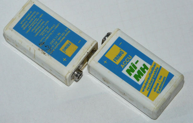 I made my Line Battery-pack from two 9-volt batteries is 18-volt.