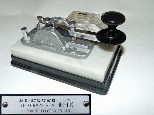 HI-Mound Telegraph key HK-710. With a heavy marble base. Made by HI-Mound Electro CO. LTD (a)