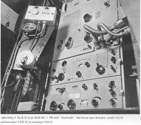 Radio equipment on Airplane PH-ALT  and morse key N.S.F  1935.
