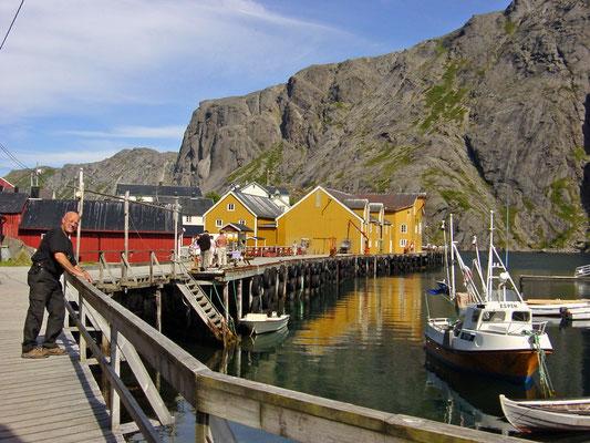 Een vissersdorp op de Lofoten.