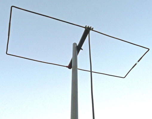 Moxon antenna. Made with 6 mm copper wire.