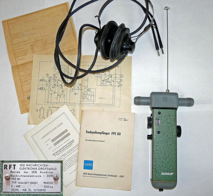 DDR Funkpeilempfanger FPE 80. 1987