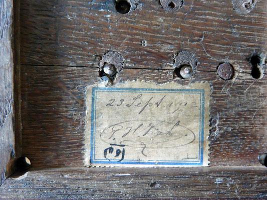 Camelback Telegraph key. Marked P.H.Kok. 23 september 1912.