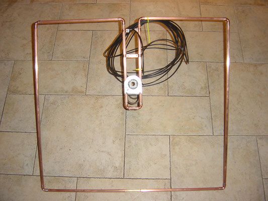 Squalo 6 Meter antenna. Made with 12 mm copper pipe.