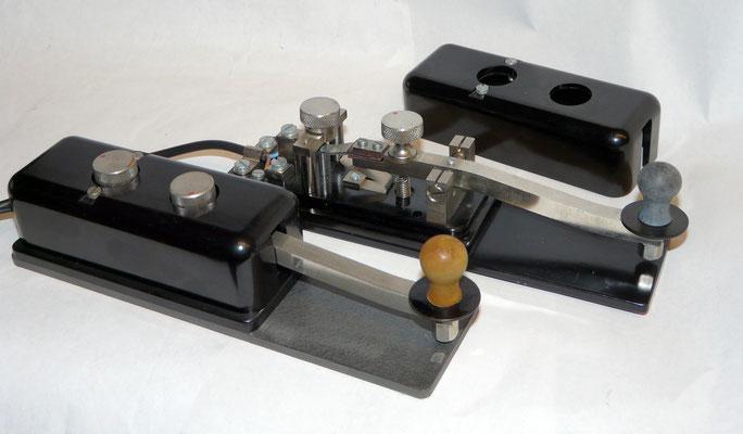 Morse key Amplidan a/s Copenhagen Denmark.  Model 50713 No 1706.