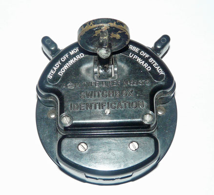 Switchbox Identification Type B manufactured according to standards set by the UK Air Ministry for installation in British military aircraft from the Second World War.