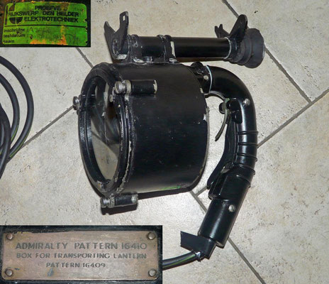 Morse Lamp. Maritime signal light for used the morse code. Used in the Netherlands on Zwaardvis class submarine.