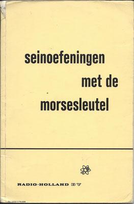 Book Seinoefeningen met de Morsesleutel Radio Holland.