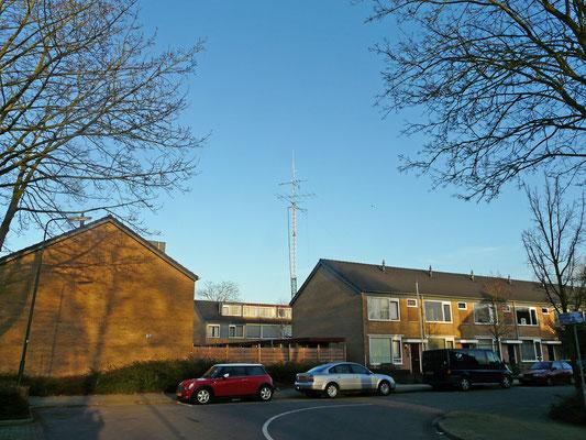 My mast and antennas at home.
