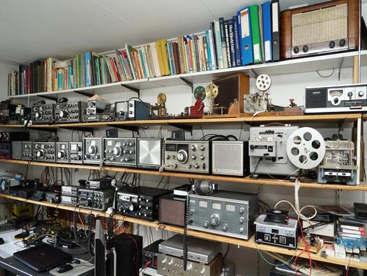 My Radio room. Trio TS-510D, Kenwood TS-515, Kenwood TS-520, Kenwood TS-820, Kenwood TS-700, Kenwood TS-480, Icom IC-7100, Sommerkamp FT-250, Trio 9R-59D.