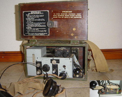 Fullerphone MK.V. Field telegraph set. Was used by the Britisch forces during WWII. Similar sets have been used sinse WW 1. First designed by A.C. Fuller 1915