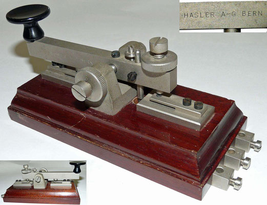 Swiss - Morse Key Made by Hasler A-G Bern.
