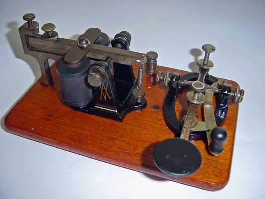 KOB Key on Board. Telegraph key and sounder set. Made by J.H.Bunnell & Co. New York. Circa 1900.