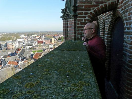Jan PA3EGH zicht op Wijk bij Duurstede van uit de kerk toren