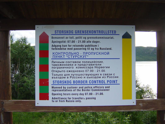 The border from Norway to Russia