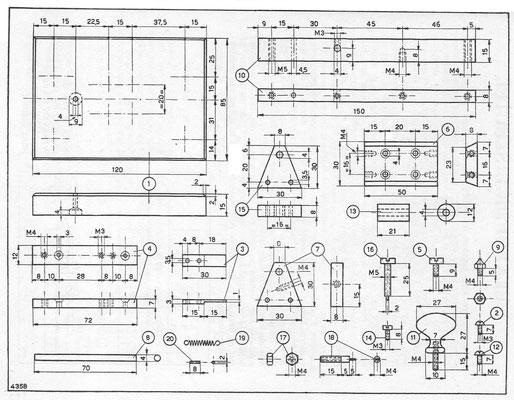 Diagram of a standard Dutch morse key.