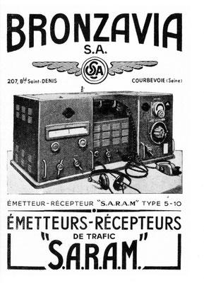 Èmetteurs - Rècepteur S.A.R.A.M. Type 5-10. With morse key.