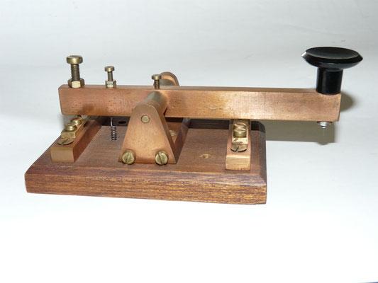 Classic Dutch morse key. Home made