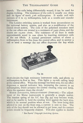 This morse key was described in 1895 in the book (The telegraphists' guide).