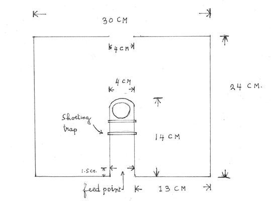 Squalo schema 2 Meter, 144 MHz antenna.