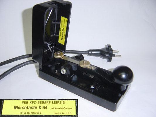 DDR. VEB KFZ-Bedarf Leipzig Morsetasten K40 and K64. from 1958 to 1990s.