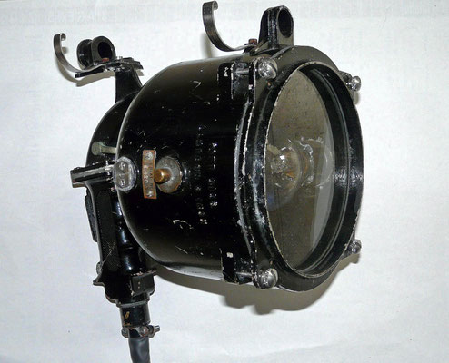 Morse Lamp.Patt. 5153. Lantern 6 Inch. Serial No E.420. Maritime signal light for used the morse code.