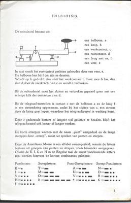 Seinoefeningen met de Morsesleutel Radio Holland.