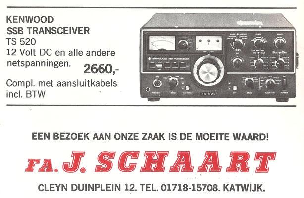 advertisement Schaard 1974.