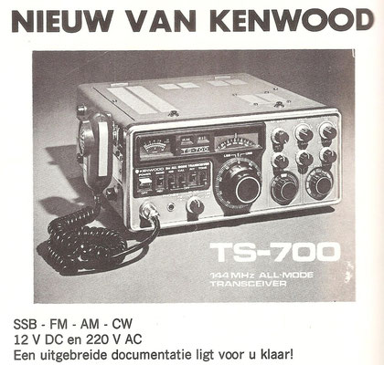Kenwood TS-700. Schaart advertising 1974.