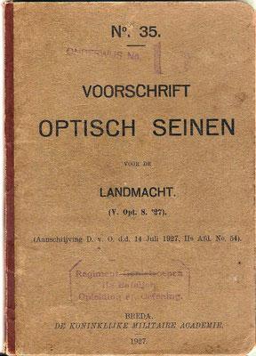 Voorschrift Optisch Seinen 1927.