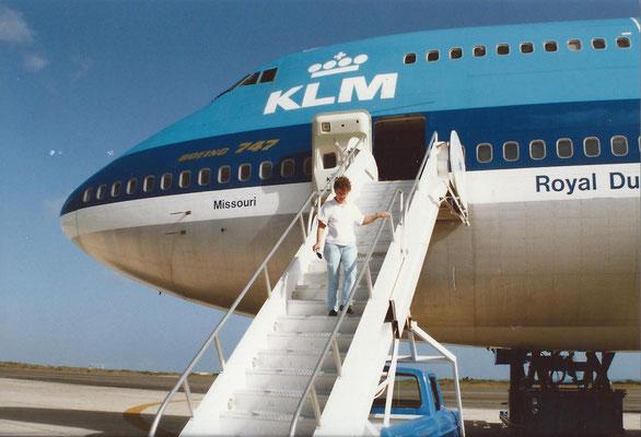 Aankomst Curacao Nellie. 1989