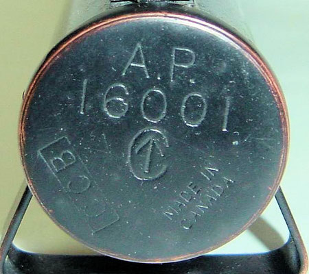Canadian Signal Torch Navy stores number AP 16001